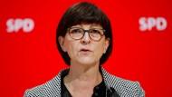 Die SPD-Vorsitzende Saskia Esken