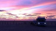 So leer ist der Strand bei St. Peter-Ording nur im Frühjahr und im Herbst. Übernachten im Wagen ist nicht erlaubt.