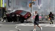 Der frühere Soldat richtete bei seiner Irrfahrt am Times Square ein heilloses Chaos an und verletzte zahlreiche Menschen.