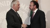 Schwierige Verhandlungen: der amerikanische Außenminister Rex Tillerson (links) und sein mexikanischer Kollege Luis Videgaray