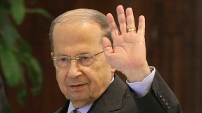 File photo of Lebanese Christian leader and head of the Free Patriotic Movement Michel Aoun at the presidential palace in Baabda, near Beirut