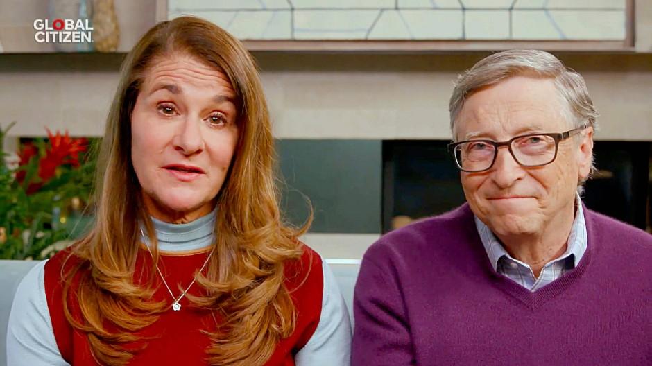 """Melinda und Bill Gates bei der digitalen Veranstaltung """"One World: Together at Home"""" im April 2020"""