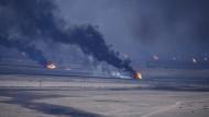 Brennende Ölquellen in Kuweit 1991
