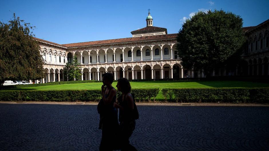 Der Innenhof der Mailänder Universität: Norditalien ist von der Coronas-Pandmie besonders betroffen. (Archivfoto)