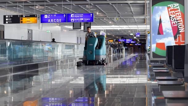 Gebäudereiniger streiken an Flughäfen