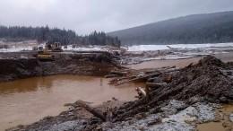Luftbilder zeigen Zerstörung nach Dammbruch