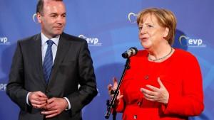 Rückendeckung für Weber als möglicher Juncker-Nachfolger