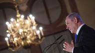Benjamin Netanjahu, Israels Premierminister, in München am Wochenende