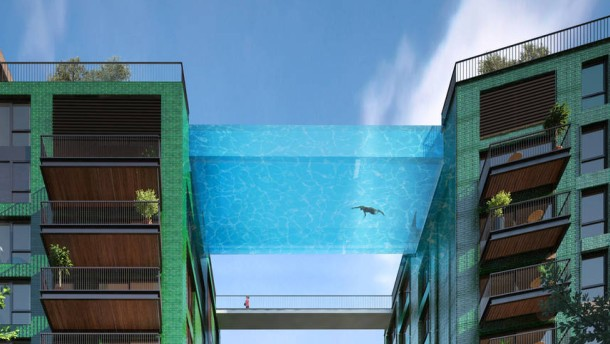sky pool in london durch die luft schwimmen. Black Bedroom Furniture Sets. Home Design Ideas