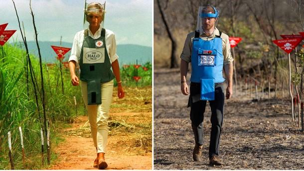 Prinz Harry wandelt auf den Spuren seiner Mutter Diana