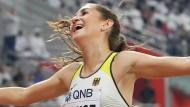 Am Ziel: Gesa Felicitas Krause könnte nach ihrer Bronzemedaille die ganze Welt umarmen.