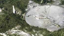 900 Tonnen schweres Radioteleskop eingestürzt