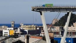 Firma wusste von Gefahr bei Genua-Brücke