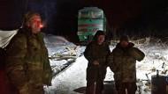 Gegen den großen Grenzverkehr: In der Mitte Ruslana Boiko