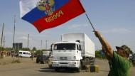 Hilfskonvoi erreicht Luhansk