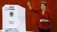 Brasiliens Präsidentin Rousseff wiedergewählt