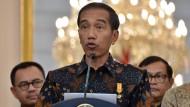 Er ist ein Mann des Volkes: der indonesische Staatspräsident Joko Widodo in Jakarta
