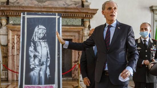 Gestohlenes Banksy-Werk wieder in Frankreich