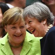 Kanzlerin Angela Merkel und die britische Premierministerin Theresa May beim Gipfeltreffen in Brüssel