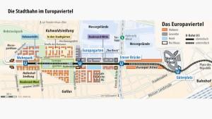 Stadtbahn-Bau ins Europaviertel zieht sich länger hin