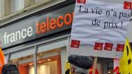 Demonstration von France-Télécom-Mitarbeitern im Jahr 2009