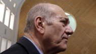 Ehud Olmert Ende Dezember vor dem obersten Gerichtshof in Jerusalem