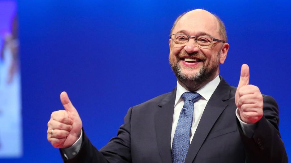 Daumen hoch? Martin Schulz im Dezember beim SPD-Parteitag in Berlin