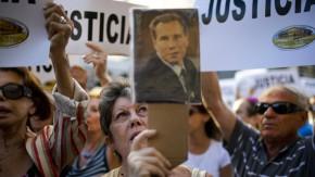 Demonstration vor dem jüdischen Gemeindezentrum in Buenos Aires nach dem Tod des Staatsanwaltes Alberto Nisman