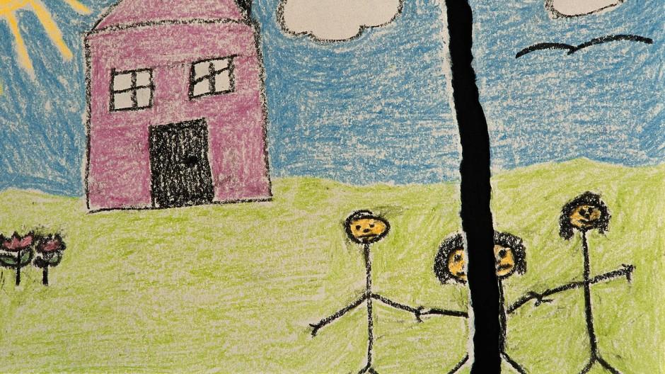 Wenn eine Familie auseinanderbricht, bleibt das Kind in neun von zehn Fällen bei der Mutter.
