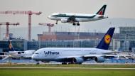 Optische Täuschung: Lufthansa bewegt sich längst auf einem höheren Niveau als Alitalia.