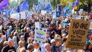 Hunderttausende demonstrieren am 20. Oktober in London für ein zweites Brexit-Referendum.