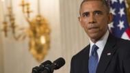 Entschlossen: Der amerikanischer Präsident Obama befiehlt begrenzte Luftangriffe auf die Terrororganisation Islamischer Staat (IS) im Irak