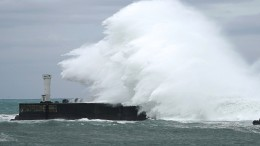 Super-Taifun auf dem Weg nach Japan