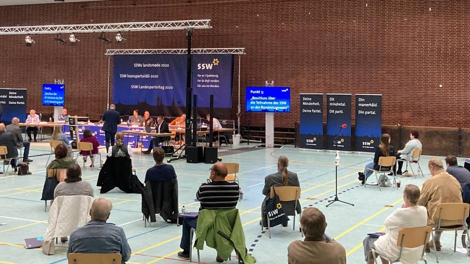 Mit Sicherheitsabstand: Parteitag des SSW in Flensburg