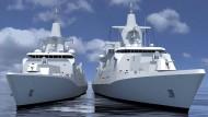 Entwürfe des Mehrzweckkampfschiffes 180 (MKS 180)