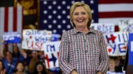 Hillary Clinton bei einem Wahlkampfauftritt in Kalifornien
