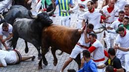 42 Verletzte bei den Stierrennen in Pamplona