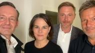 Volker Wissing, Annalena Baerbock, Christian Lindner und Robert Habeck.