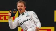 Bester Laune: Nico Rosberg nach seinem Sieg in Schanghai