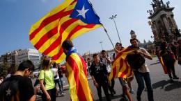 Demonstrationen für die Unabhängigkeit von Katalonien