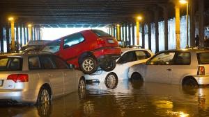 Heftige Unwetter und Überflutungen in Berlin
