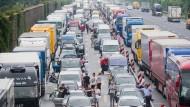 Chaos auf der Autobahn