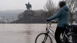 Hochwasserlage in Rheinland-Pfalz entspannt sich