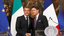 Macron und Conte wollen Verteilungsmechanismus für Flüchtlinge