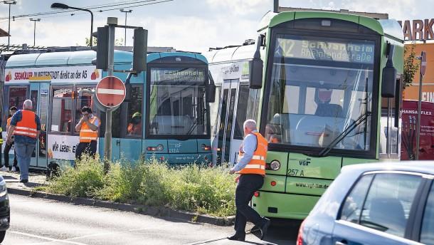 Abermals Zusammenstoß zweier Bahnen in Frankfurt