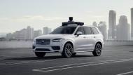 Eher was für Geschäftsleute: Der selbstfahrende Volvo XC90 SUV soll bald von Uber getestet werden.