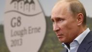 Sein bislang letzter G-8-Gipfel: Wladimir Putin 2013 im nordirischen Enniskillen.