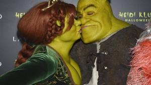 Heidi Klum und Tom Kaulitz als Fiona und Shrek
