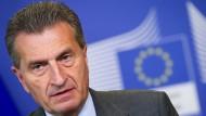 """Günther Oettinger: """"Das europäische Projekt ist, so glaube ich, erstmals in Lebensgefahr."""""""