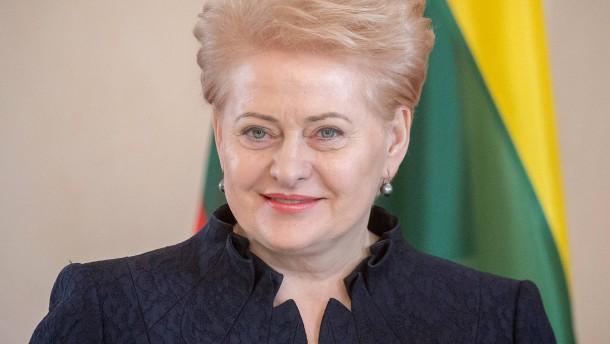 Litauens Präsidentin sieht Deutschland in der Führungsrolle